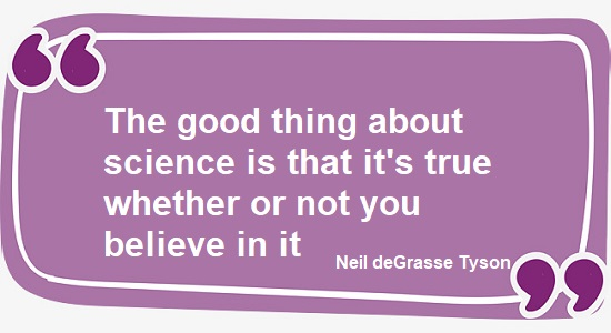 Science quote from Neil deGrasse Tyson