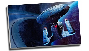 Starship Enterprise canvas poster