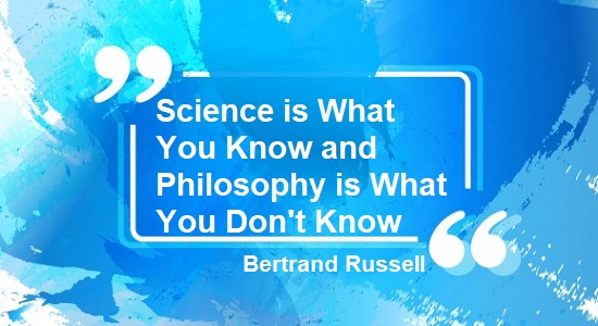 Bertrand Russell science quote