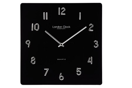 Blackj glass wall clock
