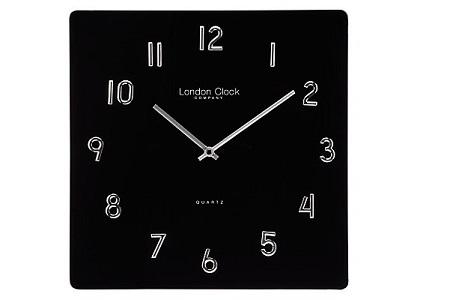 Blackj glass wall clock