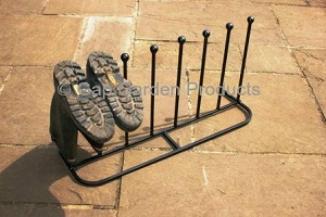 Cast iron boot rack