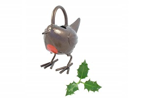 Brass robin watering can