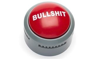 Red bullshit alert button