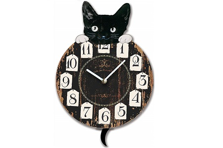 Cat themed wall clock