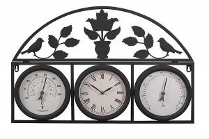 Wall mounted clock weather station