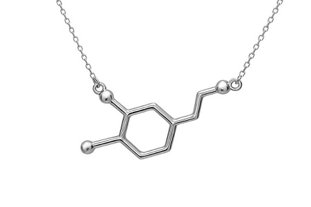 Dopamine silver necklace