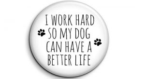 Dog fridge magnet for dog lovers and owners