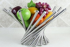 Stainless steel fruit bowl housewarming gift