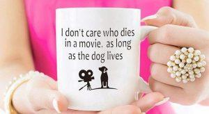 Funny dog mug for drinking