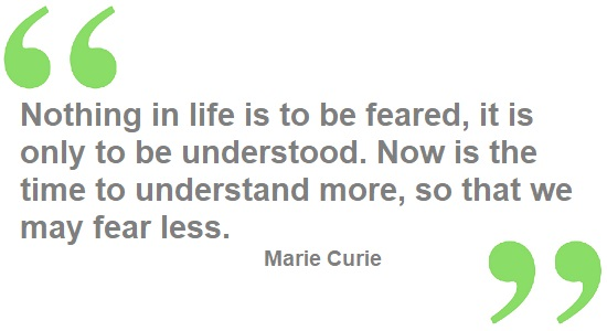 Marie Curie science quote