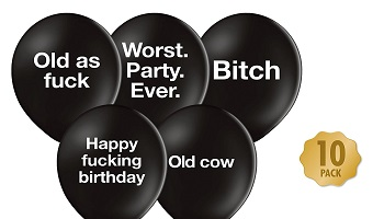 Offensive party balloon gift