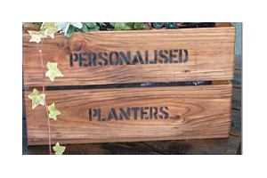 Personalised planter crate