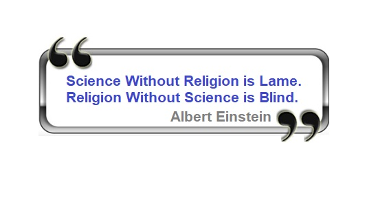 Einstein religion science quote