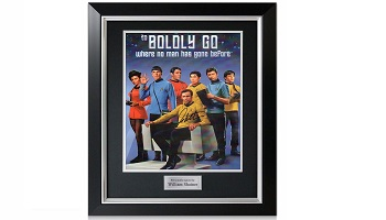 Poster signed by William Shatner