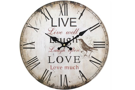 Live laugh and love clock