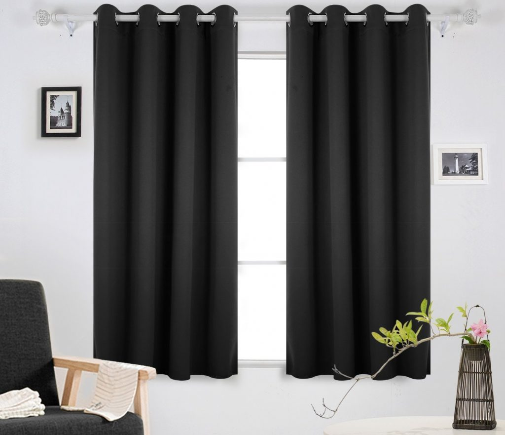 black sound proof curtains