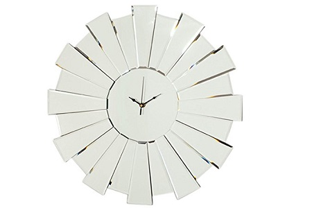 Sunburst glass clock