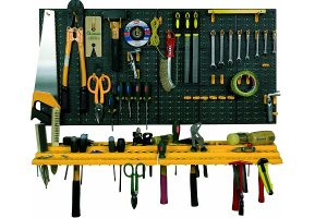 Tool rack and peg board