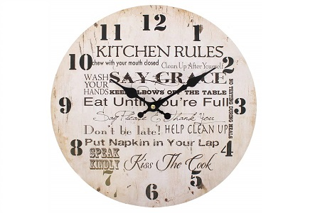 Kitchen rules clock