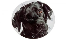 Dog themed wall clock