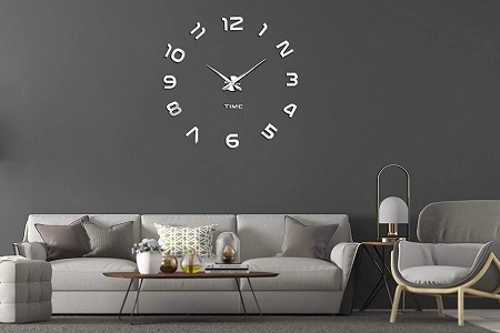 Frameless wall clock