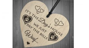 Wooden novelty plaque