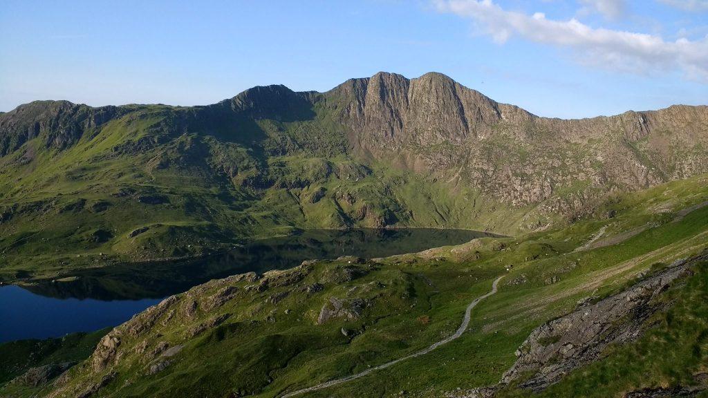 Y Lliwedd next to Mount Snowdon in Snowdonia