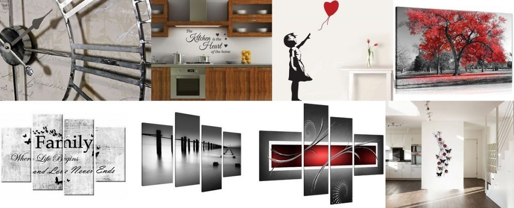 50 Wall Art Ideas Canvas Prints Metal Wall Stickers Designer Clocks